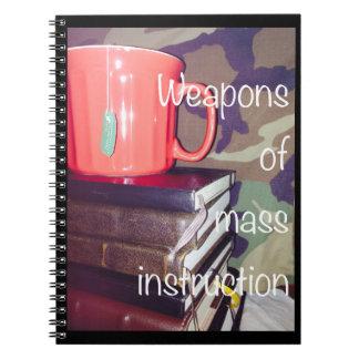 Armas del cuaderno total de la instrucción