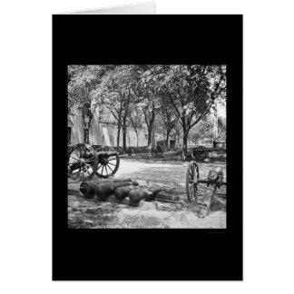 Armas y munición de Blakely en Charleston 1865 Felicitaciones
