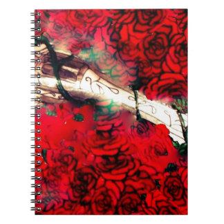 Armas y rosas cuaderno
