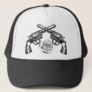 armas y rosas gorra de camionero