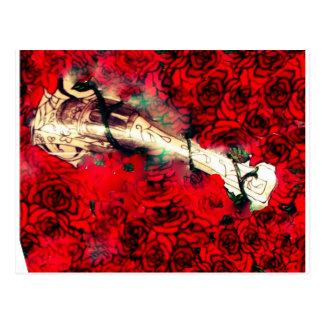 Armas y rosas postal