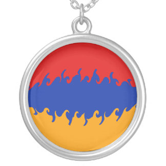 Armenia Gnarly Flag Personalized Necklace
