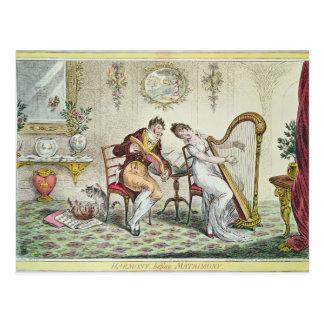 Armonía antes del matrimonio, 1805 postal