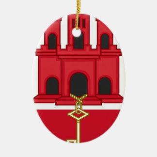 Arms_of_Gibraltar_ (variante) Adorno De Cerámica