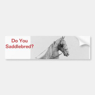 Arnés fino de Saddlebred Pegatina Para Coche