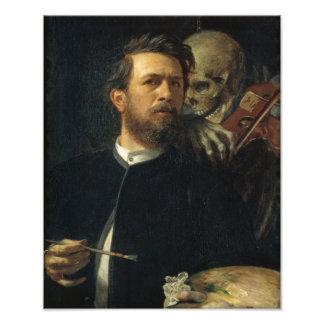 Arnold Böcklin - autorretrato con muerte Fotografías