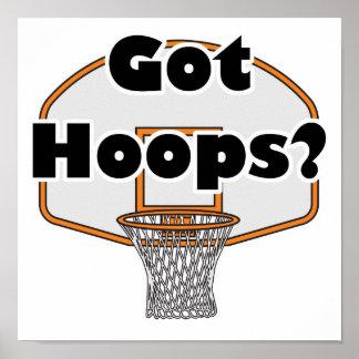 aro de baloncesto conseguido de los aros póster