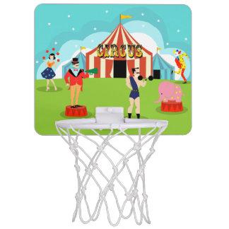 Aro de baloncesto del circo del vintage mini