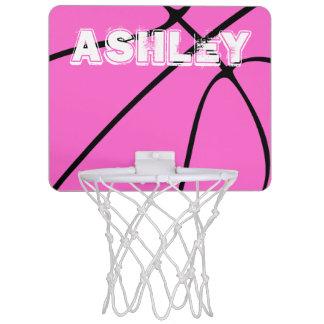 Aro de baloncesto lindo del baloncesto rosado mini
