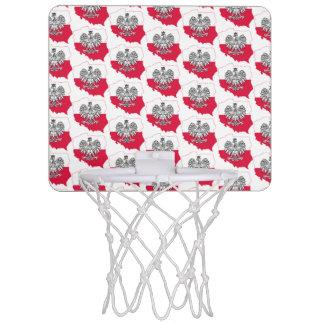 Aro de baloncesto polaco de la bandera del mapa