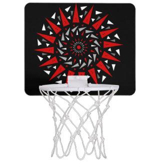 Aro de baloncesto redondo claveteado del espiral