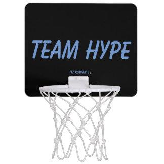 Aro de la bola de la cesta del bombo del equipo