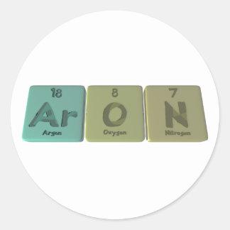Aron como nitrógeno del oxígeno del argón pegatina