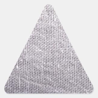 Arpillera gris del fondo de la tela pegatina triangular