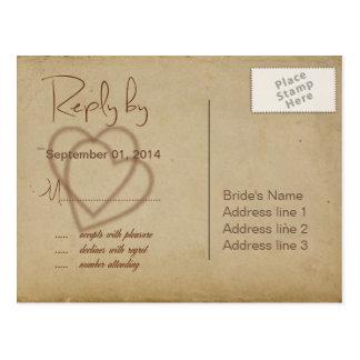 Arpillera, ramitas y guita RSVP ID132 Postal