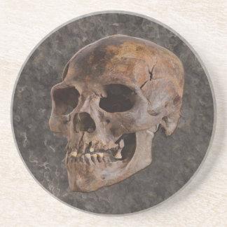Arqueología II - Cráneo en fondo del Piedra-efecto Apoyavasos