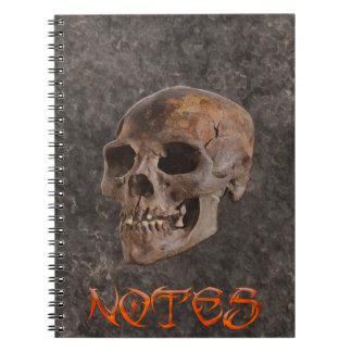 Arqueología II - Cráneo en fondo del Piedra-efecto Cuaderno