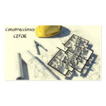 Arquitecto - Constructor - Tarjeta de Visita