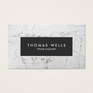 Arquitecto de mármol blanco del cantero tarjeta de negocios