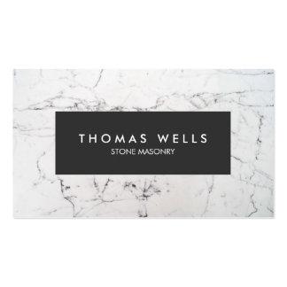 Arquitecto de mármol blanco del cantero tarjetas de visita