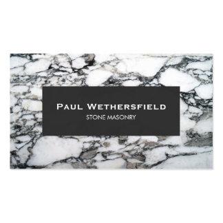 Arquitecto de mármol blanco y negro del cantero tarjetas de visita