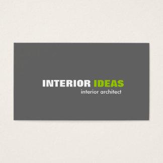Arquitecto interior - tarjetas de visita