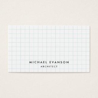 Arquitecto simple del profesional del modelo del tarjeta de negocios