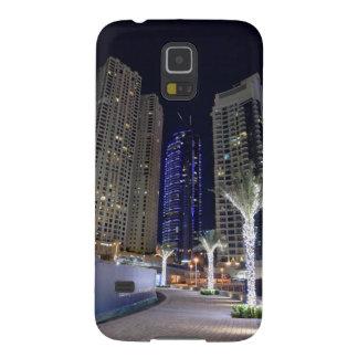 Arquitectura de Dubai en la noche Funda Para Galaxy S5