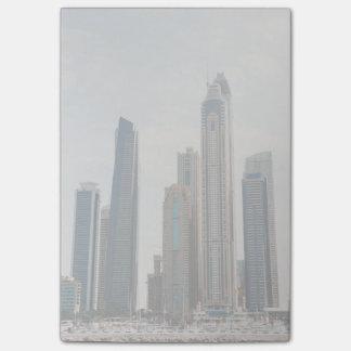 Arquitectura del puerto deportivo de Dubai Notas Post-it®
