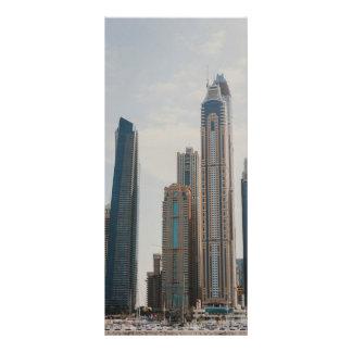 Arquitectura del puerto deportivo de Dubai Tarjeta Publicitaria