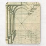 Arquitectura del vintage, perspectiva de los arcos
