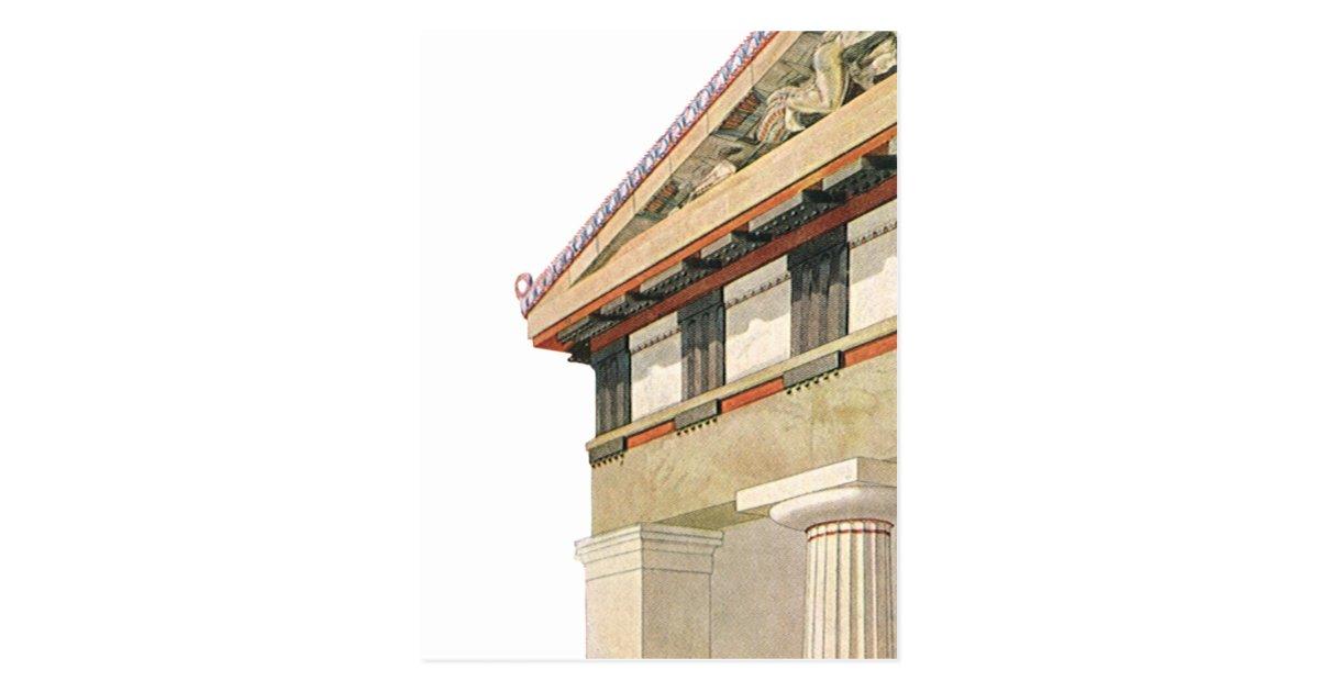 Arquitectura griega del vintage templo de athena postal for Arquitectura griega templos