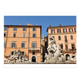 Arquitectura italiana en la plaza Navona, Roma, Postal