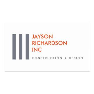 Arquitectura moderna simple, construcción, diseño tarjetas de visita