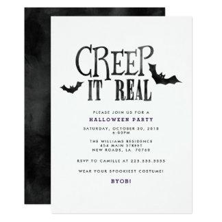 Arrastramiento él fiesta real de Halloween Invitación 12,7 X 17,8 Cm