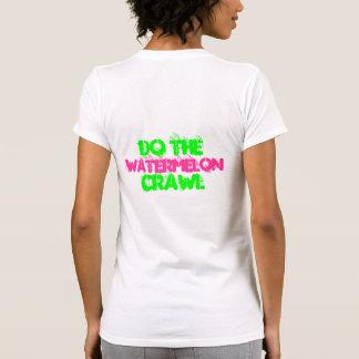 Arrastre de la sandía camisetas