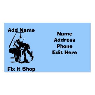 Arreglo del mecánico él tarjetas de la tienda tarjetas de visita