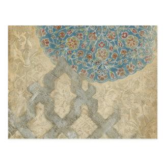 Arreglo floral de la tapicería de plata decorativa postal