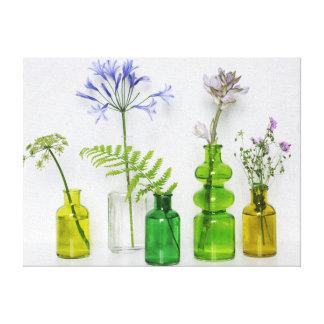 Arreglo floral impresión en lienzo