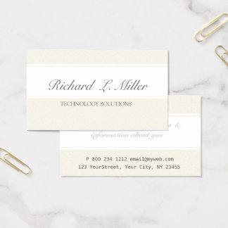 Arreglo para requisitos particulares simple tarjeta de visita