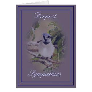 Arrendajo azul en personalizar del lavendar- tarjeta de felicitación