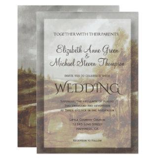 Arroyo del país de la invitación del boda