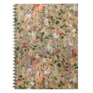 Arroz frito con el camarón libro de apuntes