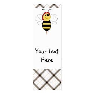 ¡Arrr! La abeja manosea la señal de la abeja Plantilla De Tarjeta De Visita