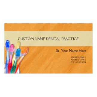 Arruga del naranja del cepillo de dientes de la tarjetas de visita