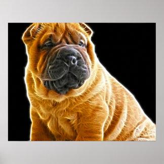 Arrugas, el perro de perrito chino de Shar Pei Impresiones