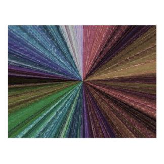 Arsenal circular 2 del arco iris del color tarjeta postal