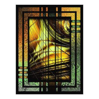 Art déco en verde y oro arte fotográfico