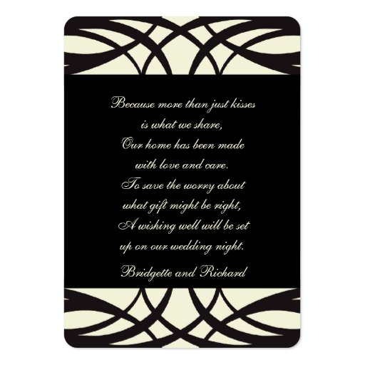 Art déco poner crema negro que desea tarjetas bien tarjeta de visita
