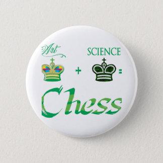 art+science=Chess Chapa Redonda De 5 Cm